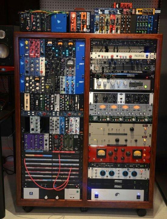 music box vintage rack pro audio musique. Black Bedroom Furniture Sets. Home Design Ideas