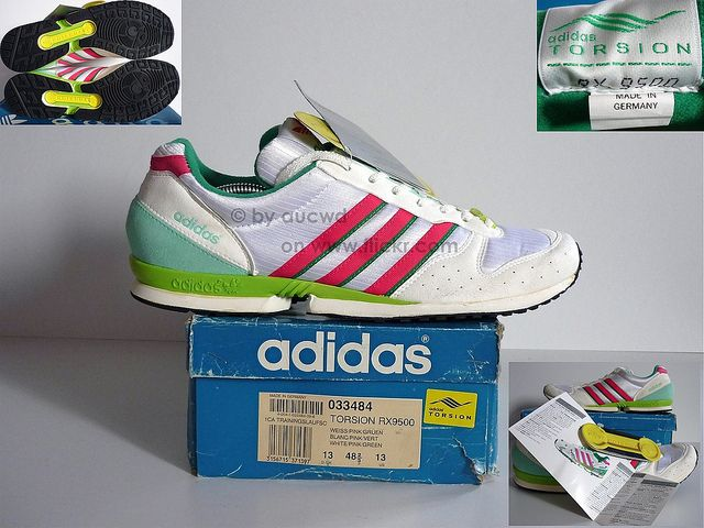 new style 64a00 c933e UNWORN 80`S   90`S VINTAGE ADIDAS TORSION RX9500 RUNNING SHOES