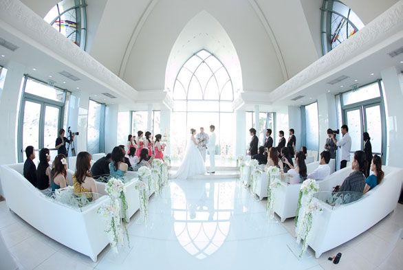 Ko Olina Glass Chapel On Oahu Hawaii Wedding Church White
