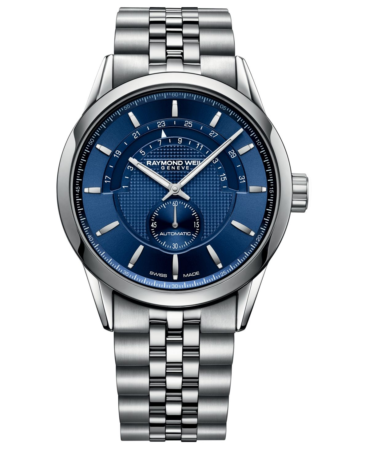 Raymond Weil Men's Swiss Automatic Freelancer Stainless Steel Bracelet Watch 42mm - Stainless Steel #stainlesssteelrolex