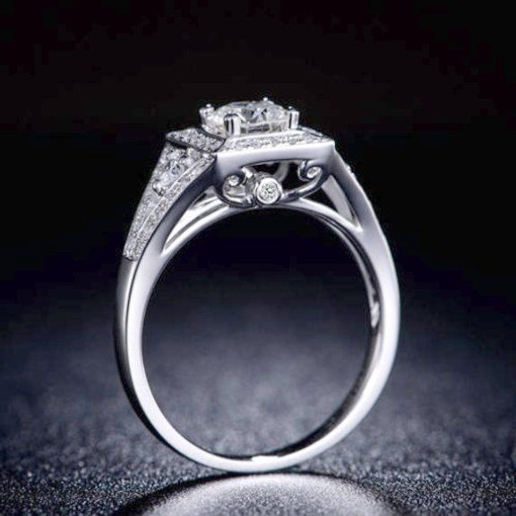 Emerald Diamond Ring Meaning White Gold Wedding Rings Sri
