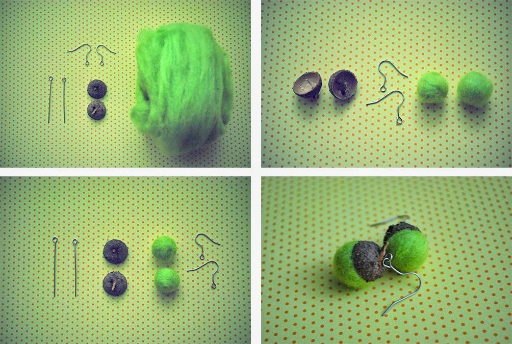 .earrings DIY.