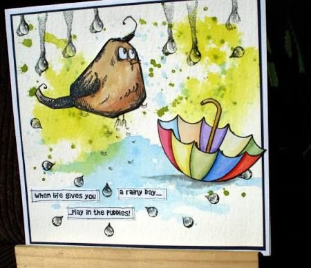 greeting cards rain puddles - Google Search