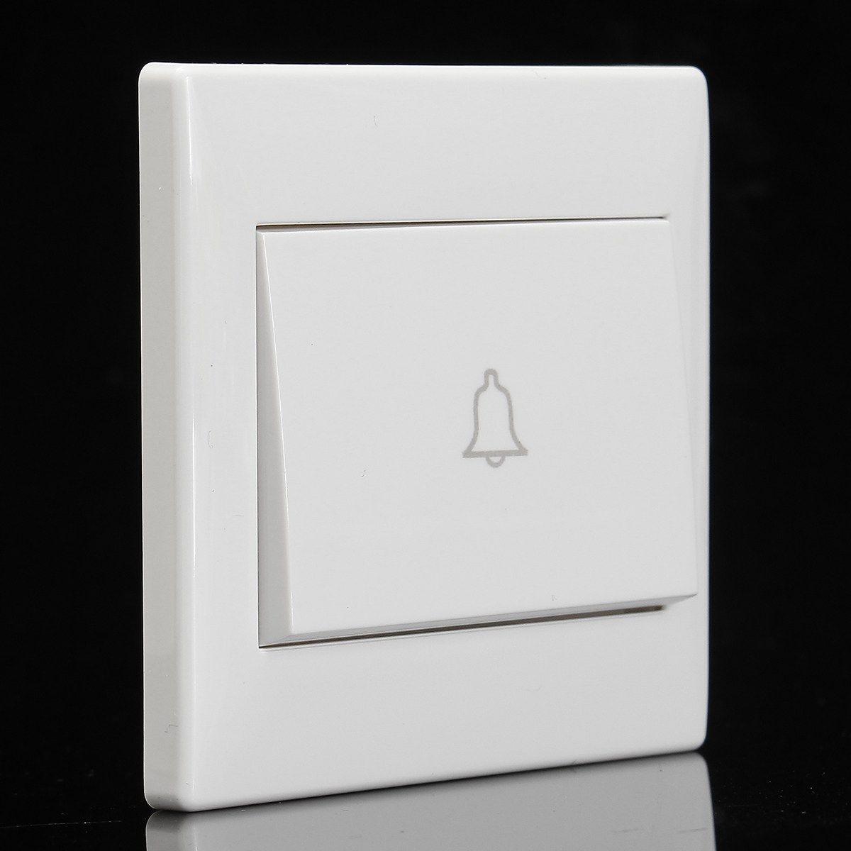 New 250v 10a White Doorbell Wall Switch Button Push Release Panel Home Office Access Control Accessories Access Control Doorbell Wall
