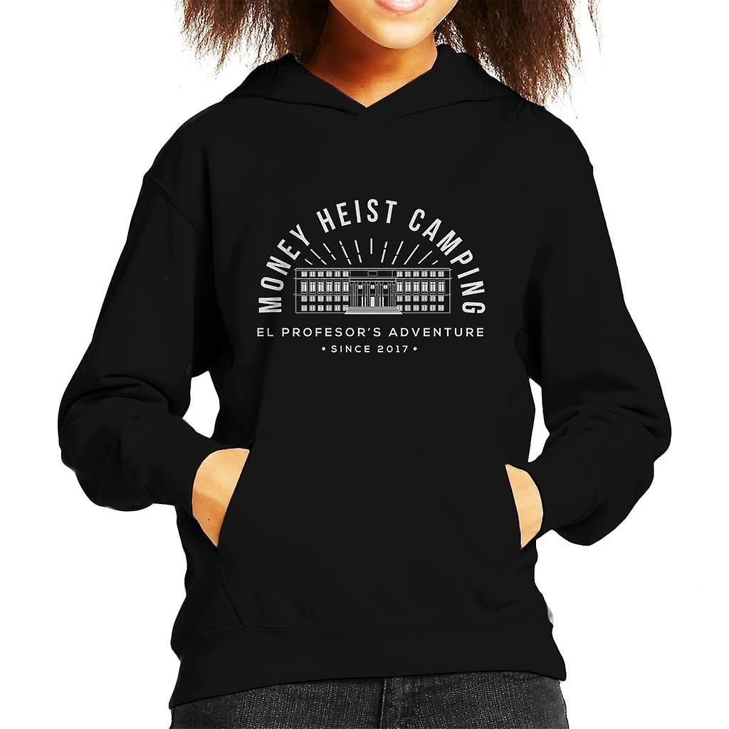 Money Heist Camping Casa De Papel Kid's Hooded Sweatshirt, Black / Large (9 / 11 yrs)