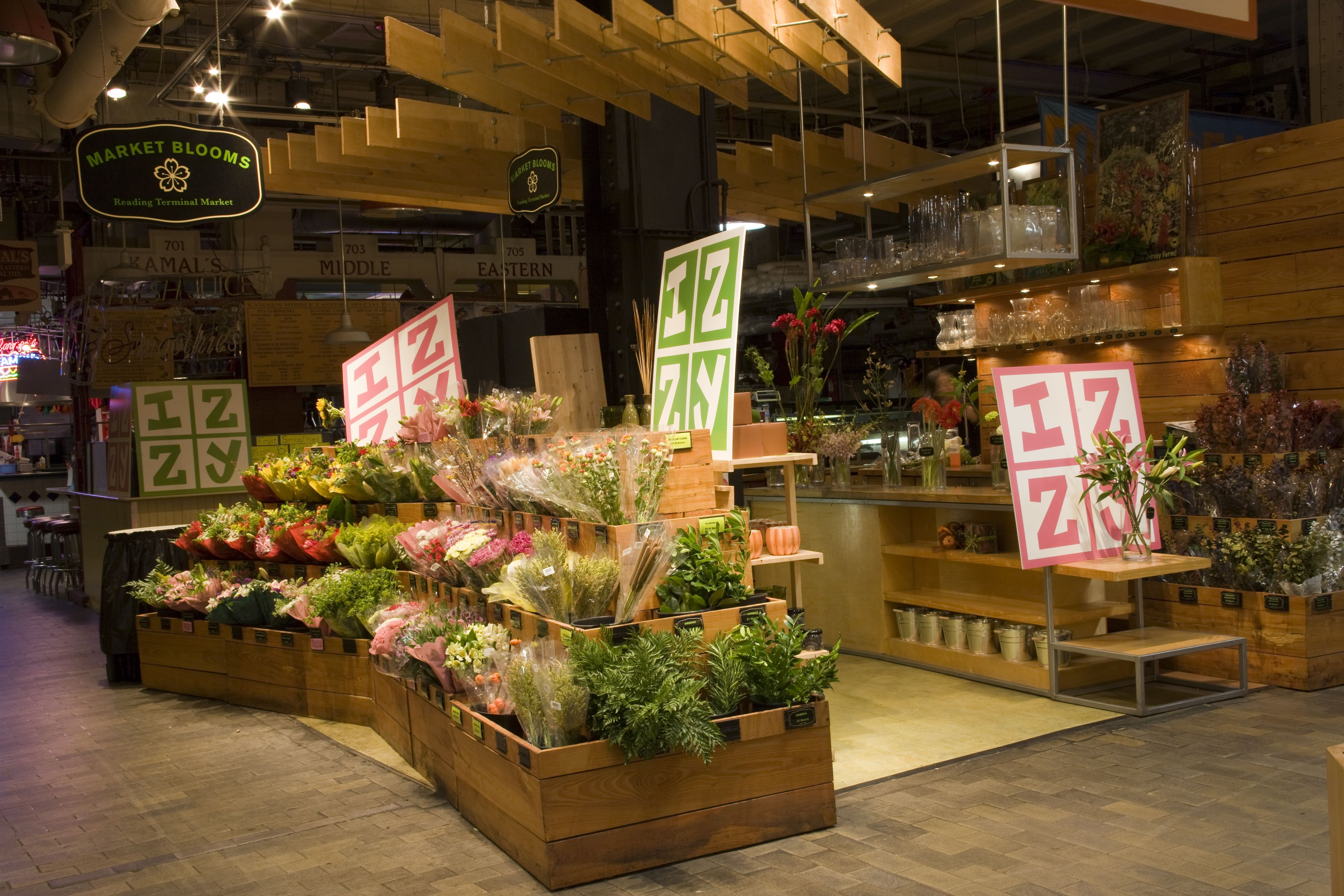 Tableart Bat Mitzvah Flower Stand Venue Reading Terminal Market