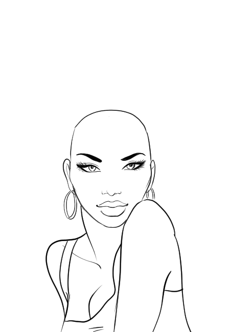 How To Draw Afro Hair Afro Hair Drawing How To Draw Hair Black Girl Art