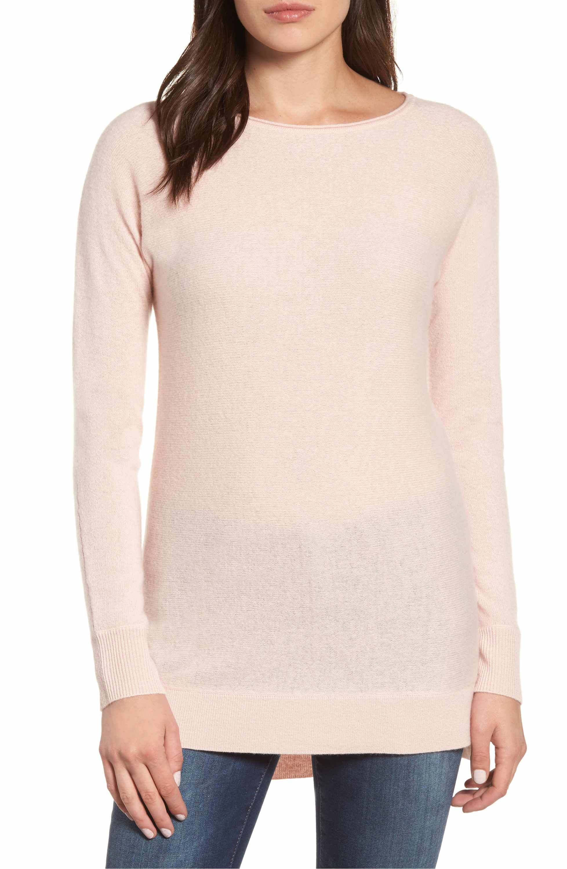 High/Low Wool & Cashmere Tunic Sweater | Tunic sweater, High low ...