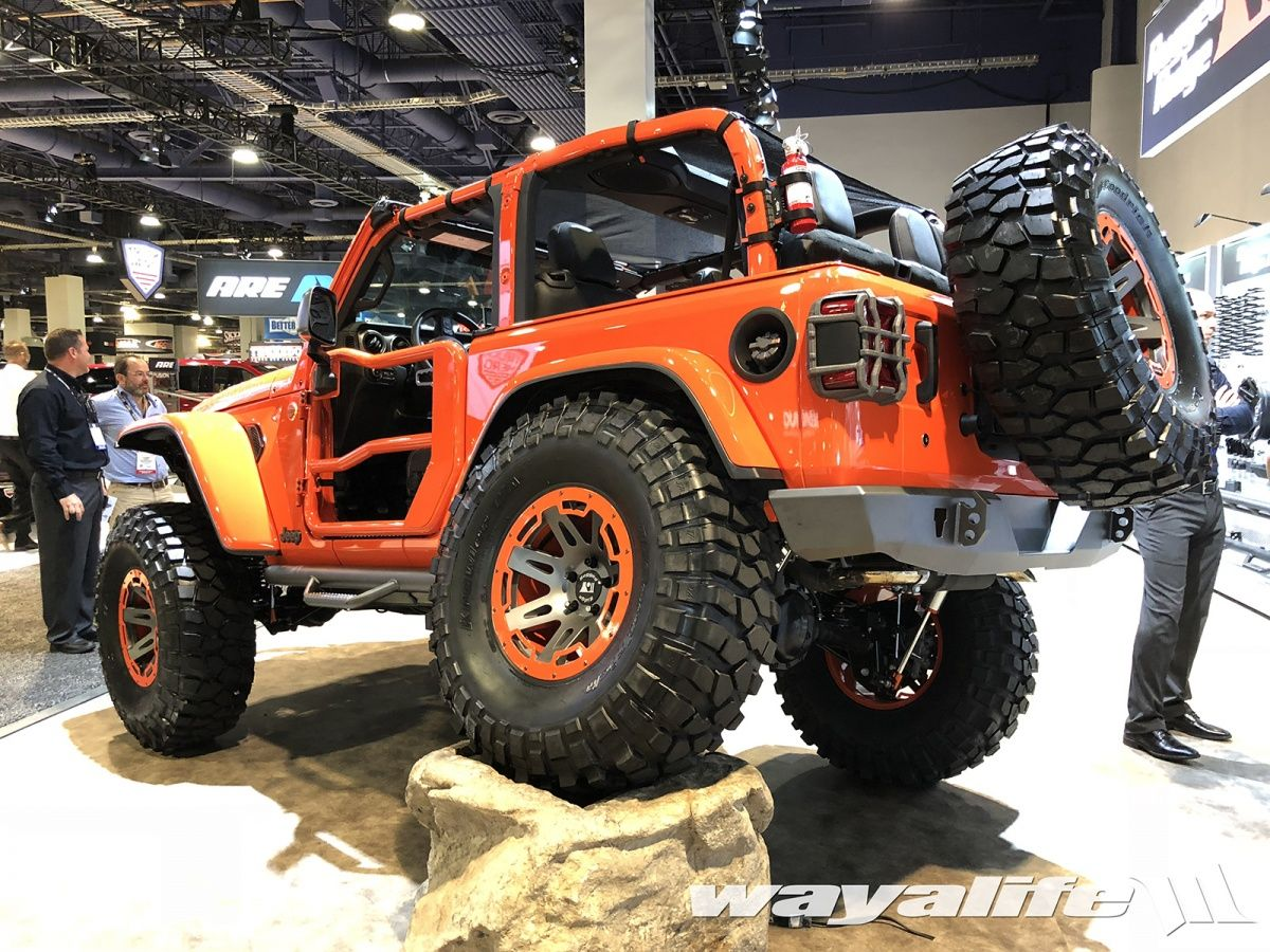 2018 Sema Rugged Ridge Orange 2 Door Jl Wrangler Orange Jeep 1997 Jeep Wrangler Rugged Ridge