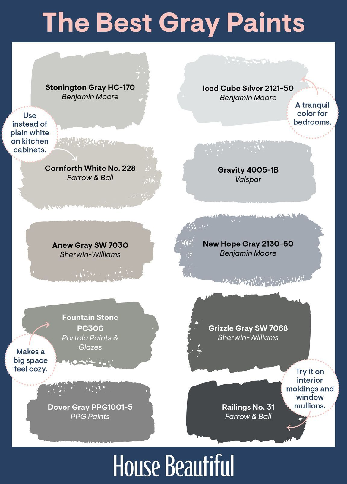 28 Best Shades Of Gray Paint According To Designers Best Gray Paint Best Gray Paint Color Blue Gray Paint Colors