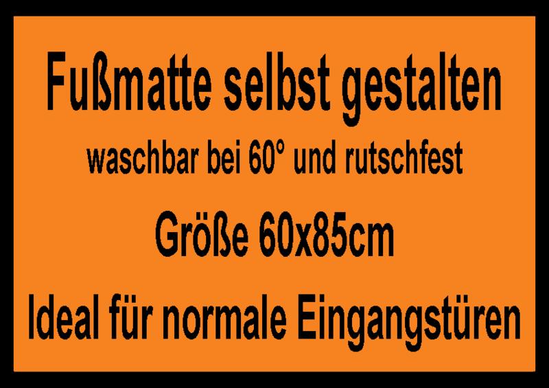 Fussmatte Selbst Gestalten Fussmatte Selbst Gestalten 60x85cm Mit Rand