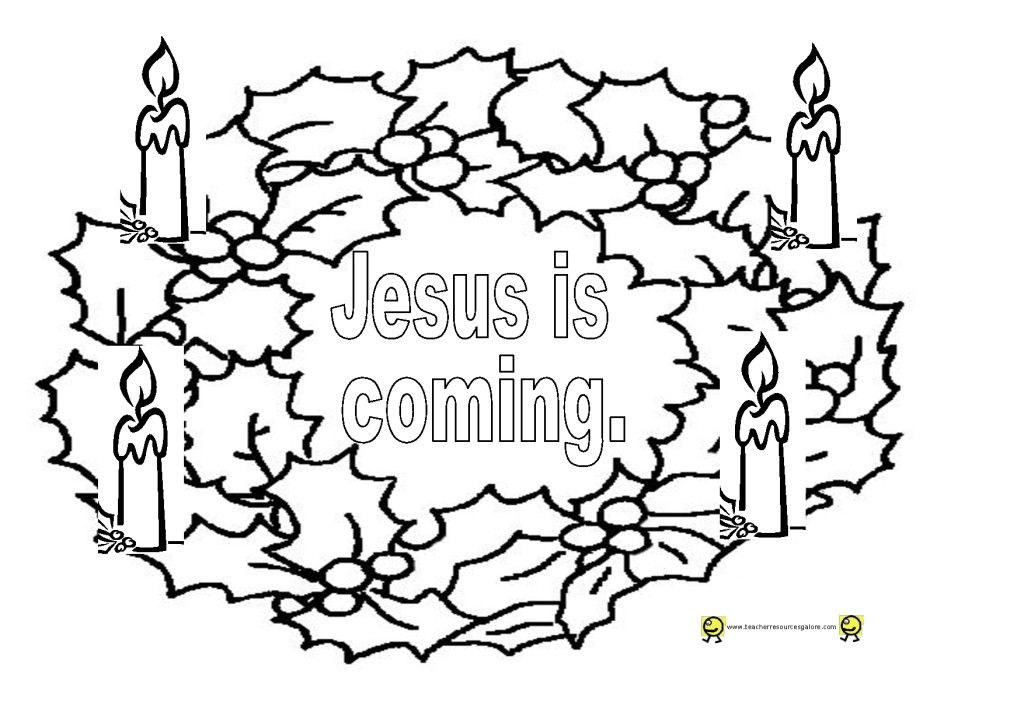 Advent Wreath Coloring Page Sketch