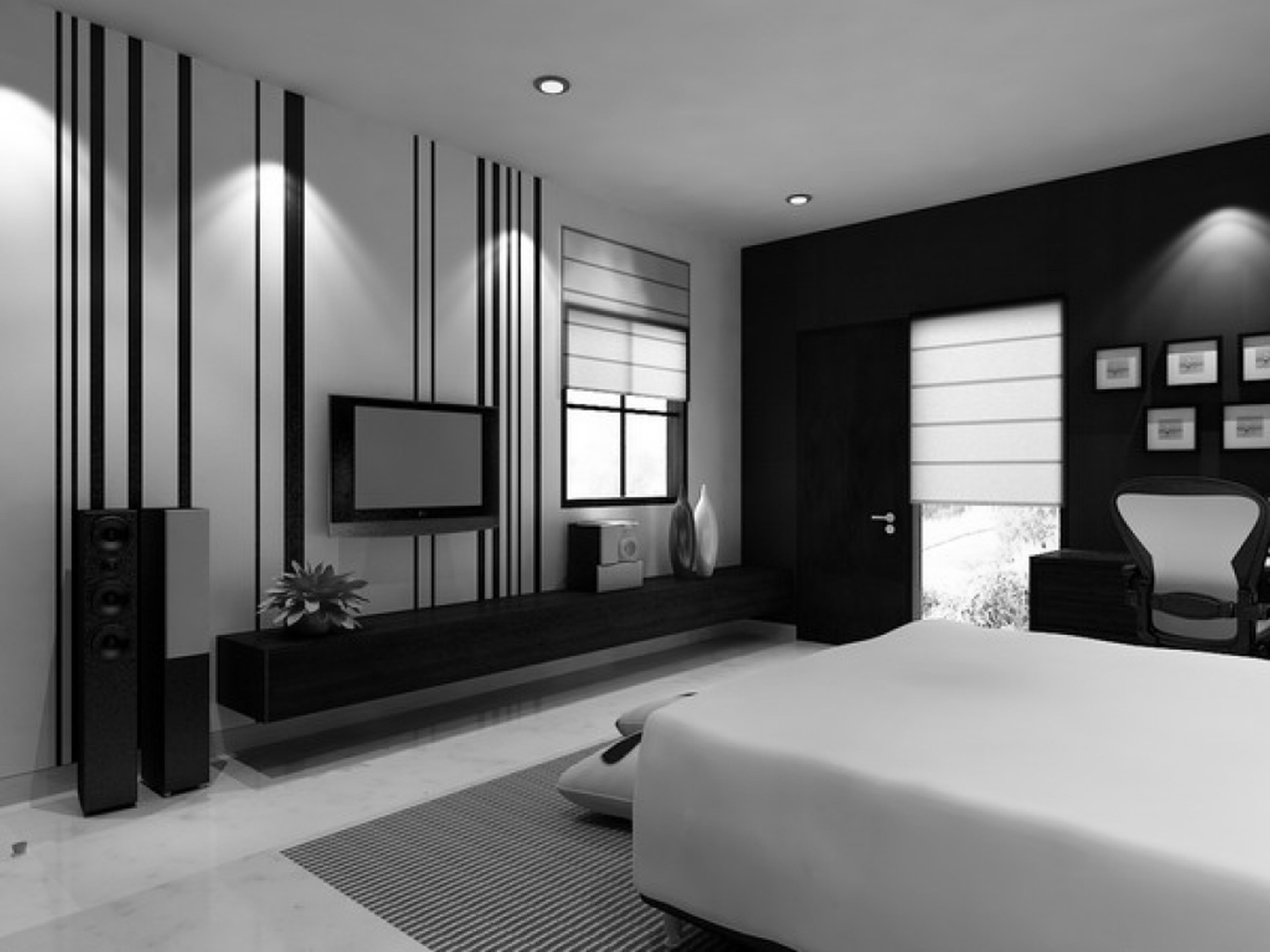 Black bedroom decor