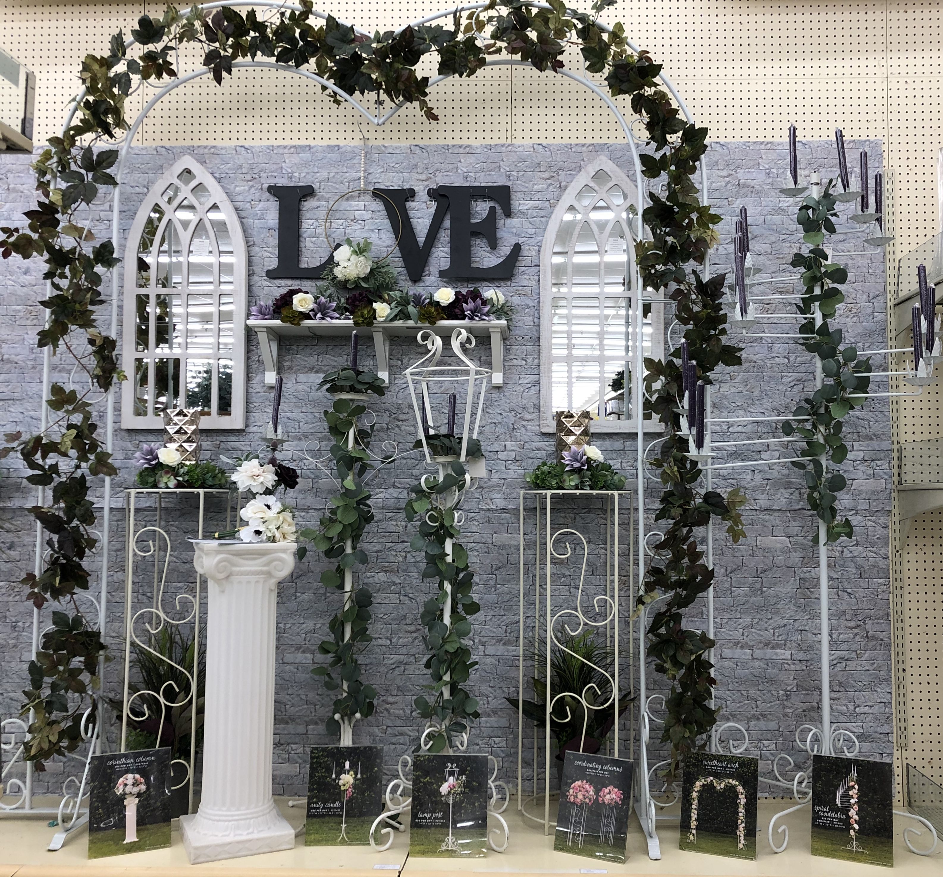 Hobby Lobby Wedding Rental Display Wedding Display Wedding