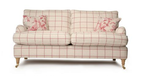 Gower Large Checked Sofa Dfs Think Sofas