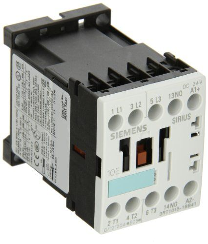 Siemens 3rt10 15 1bb41 Motor Contactor 3 Poles Screw Terminals S00 Frame Size 1 No Auxiliary Contact 24v Dc Coil Voltage Price For Each Operating Voltage ม ร ปภาพ