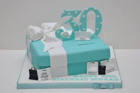 Tiffany Co 30th Birthday Cake