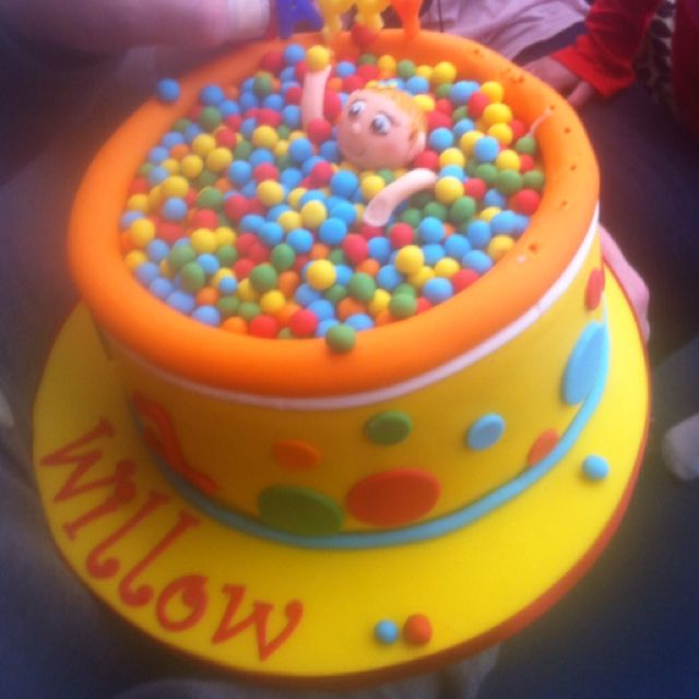 Ball Pool Birthday Cake For Cousin Willow Bake Me A Cake As