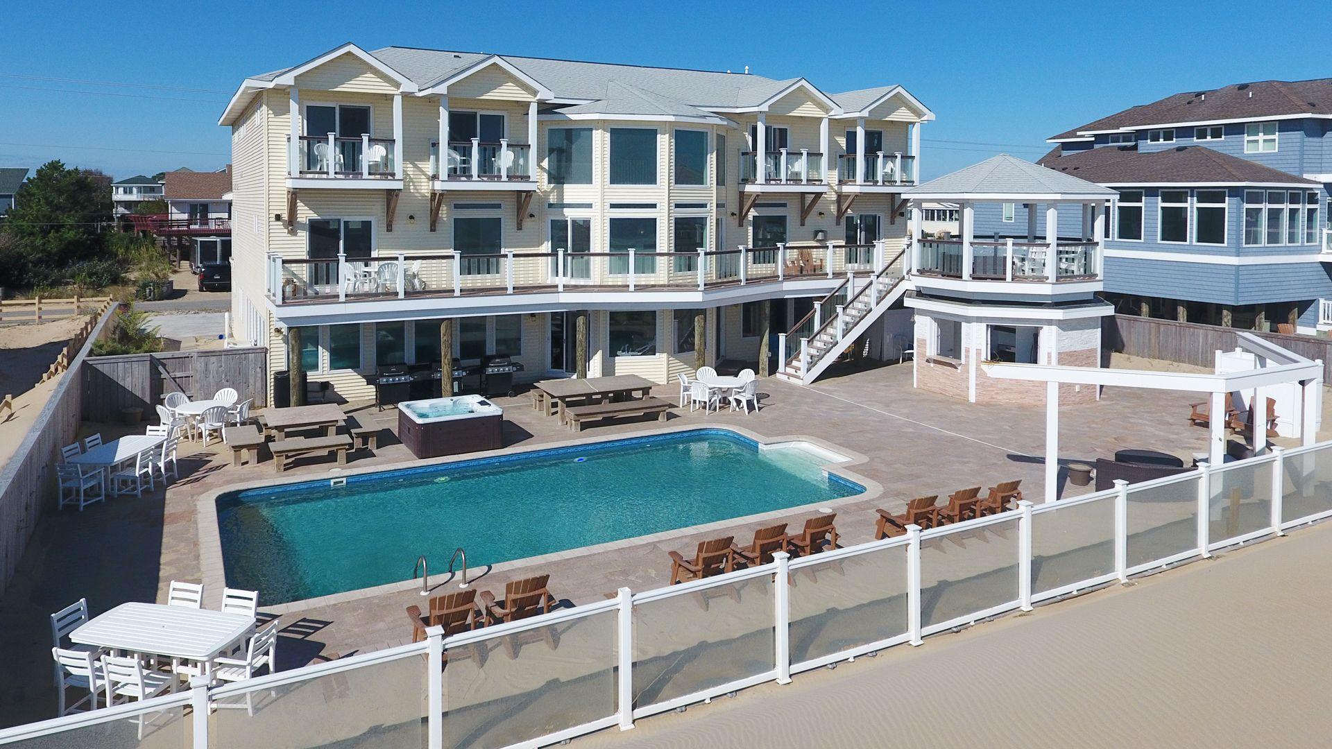 Atlantic Resort Is A Oceanfront Sandbridge Rental With 12 Bedrooms And 12 Bathr Virginia Beach Houses Beach House Wedding Reception Virginia Wedding Venues