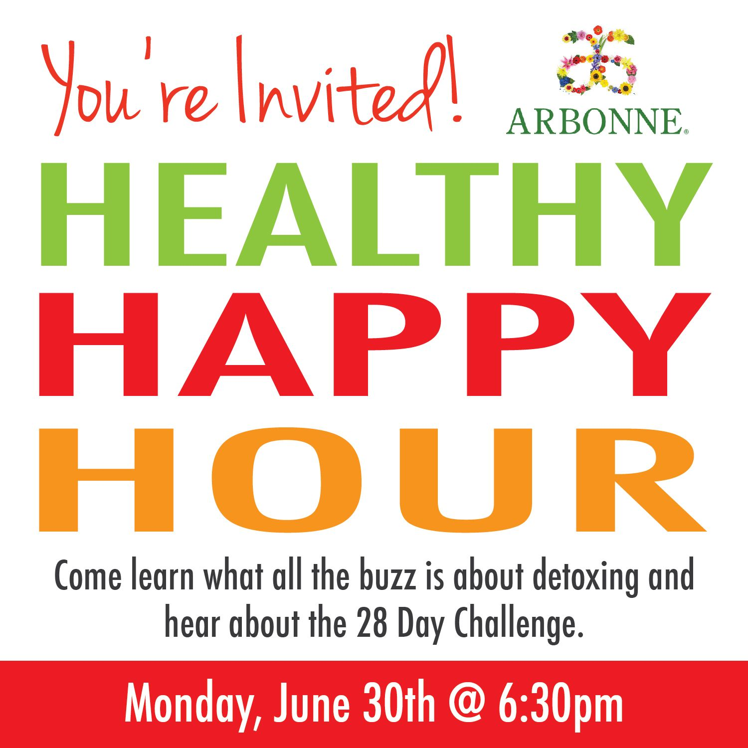 My Arbonne Addiction: Healthy Happy Hour!  Healthy Happy Hour