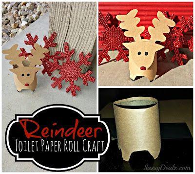 Mini reindeer toilet paper roll christmas craft for kids - Sassydeals com ...