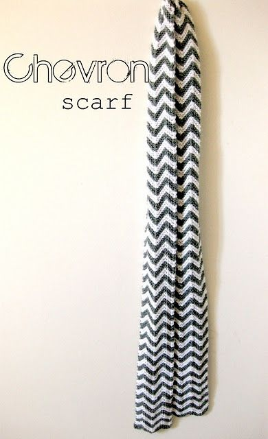 Knitted Chevron Scarf