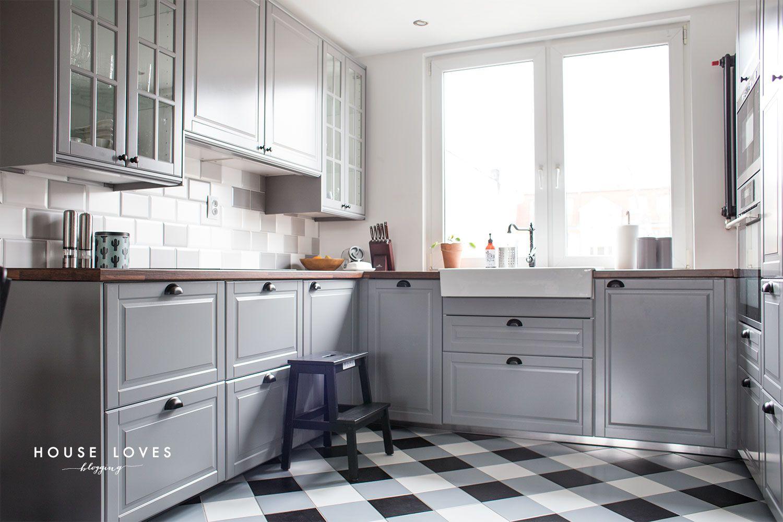 Projekt Kuchni Z Szarymi Frontami Ikea Bodbyn House Loves Ikea Bodbyn Kitchen Home Kitchens Kitchen Design