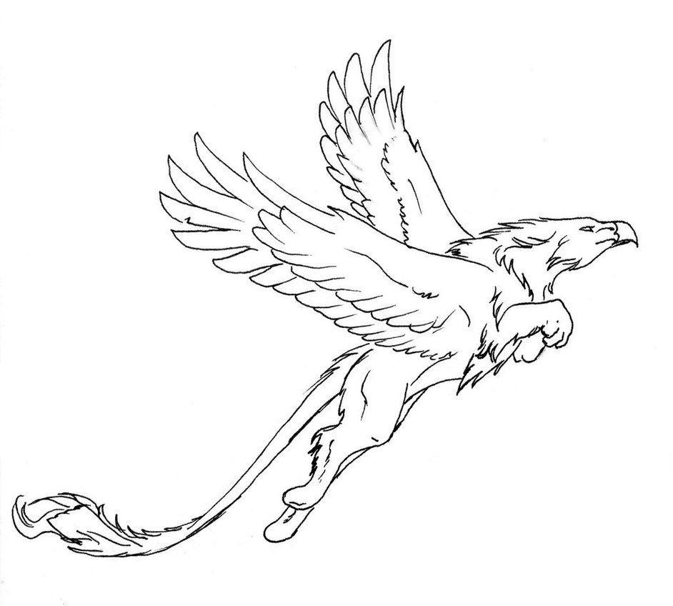 pre05deviantartnet 908b th pre i 2015 010 0 e jumping_griffon_lineart_by_thunderboltfire d8dcyj6