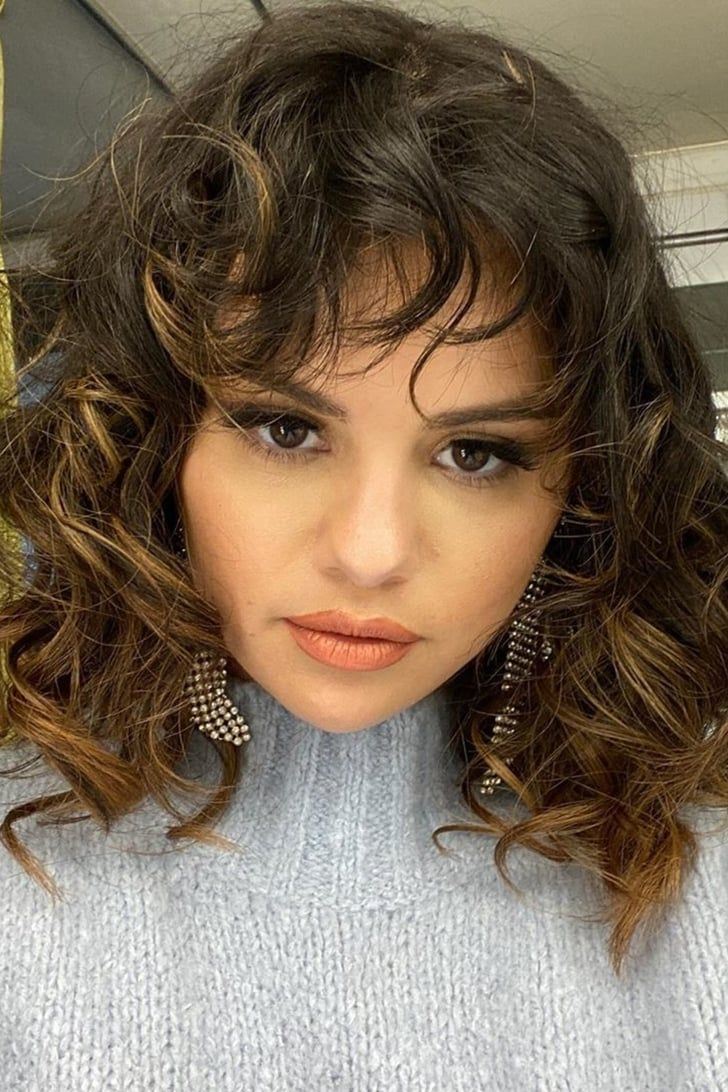 Oh, Hi, Selena Gomez — We Almost Didn't Recognize You With ...  Selena Gomez Shoulder Length Hair With Side Bangs