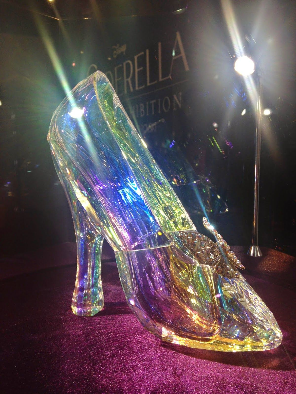 caf7ece03 The real 'glass slipper' from Disney's Cinderella!! The shoe is real and  made out of swarovski crystal!