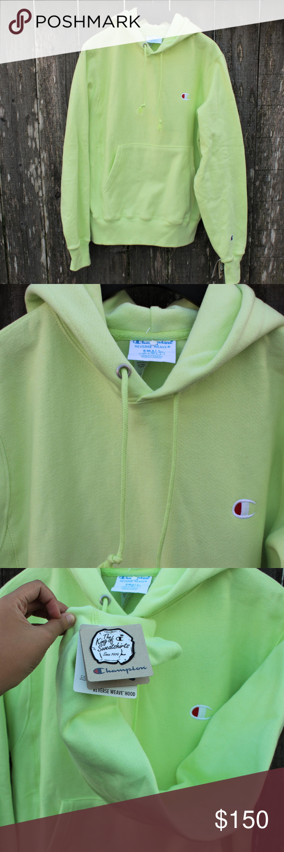 latest sale best quality for fantastic savings Champion Reverse Weave Hoodie Urban Outfitter Lime Champion ...