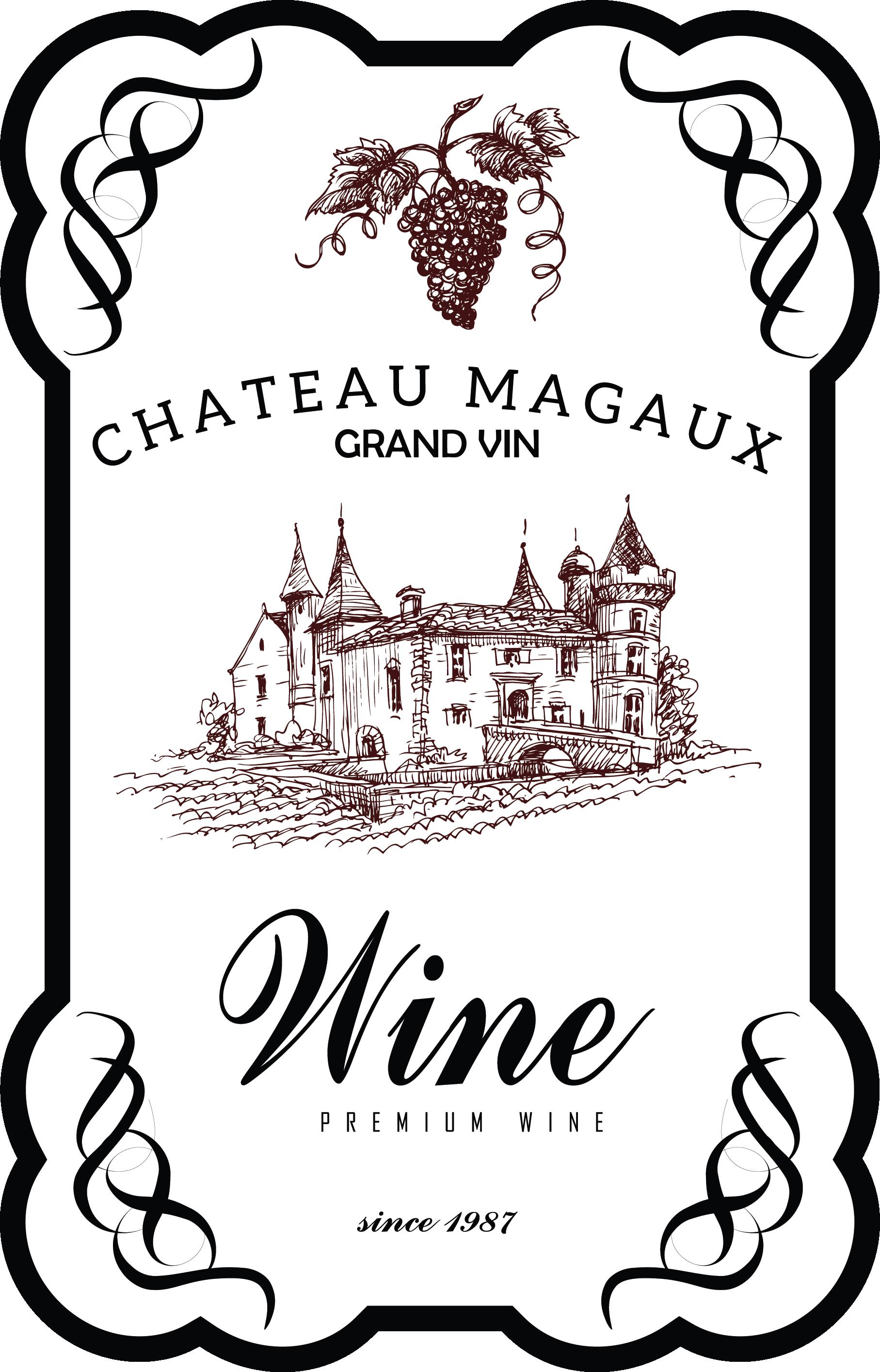 22+ Wine bottle label clipart ideas
