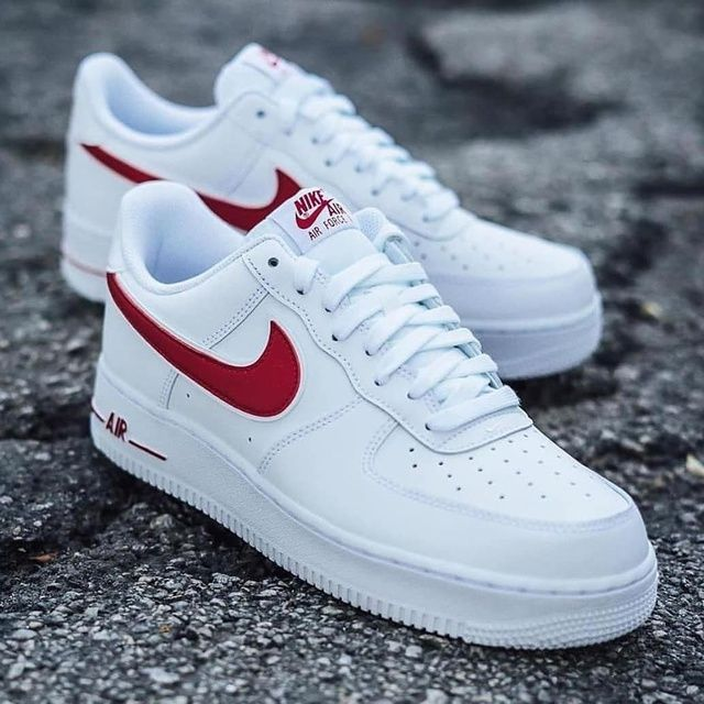 nike air force Plate with red