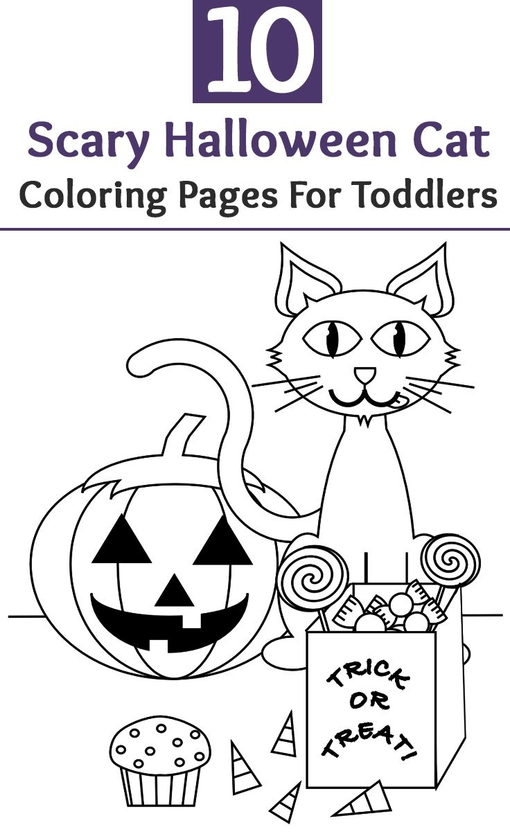 Top 25 Free Printable Halloween Cat Coloring Pages Online | Coloring ...