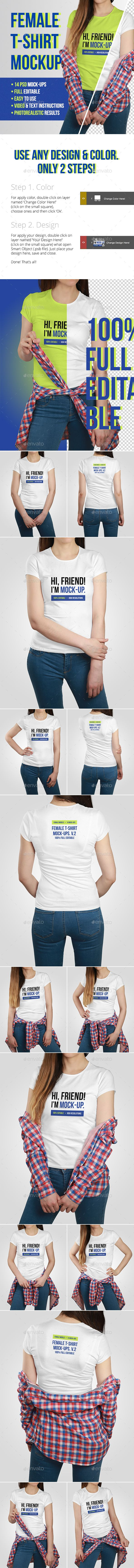 Download Female T Shirt Mockups Vol 2 Clothing Mockup Shirt Mockup Tshirt Mockup