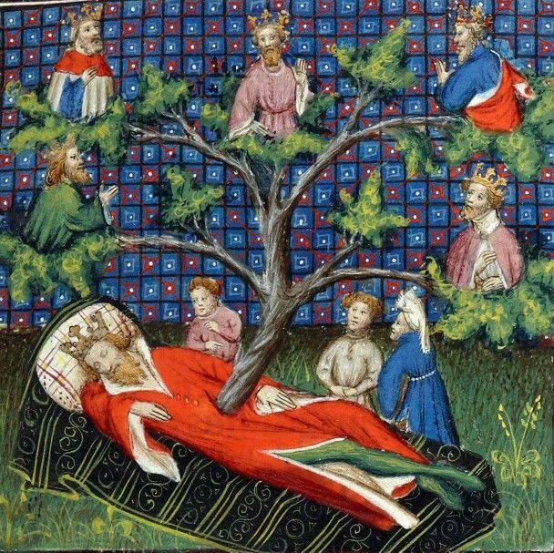 Morning wood of jesse guyart des moulins bible historiale paris 1395 1401 illuminated - Morgenlatte lustig ...