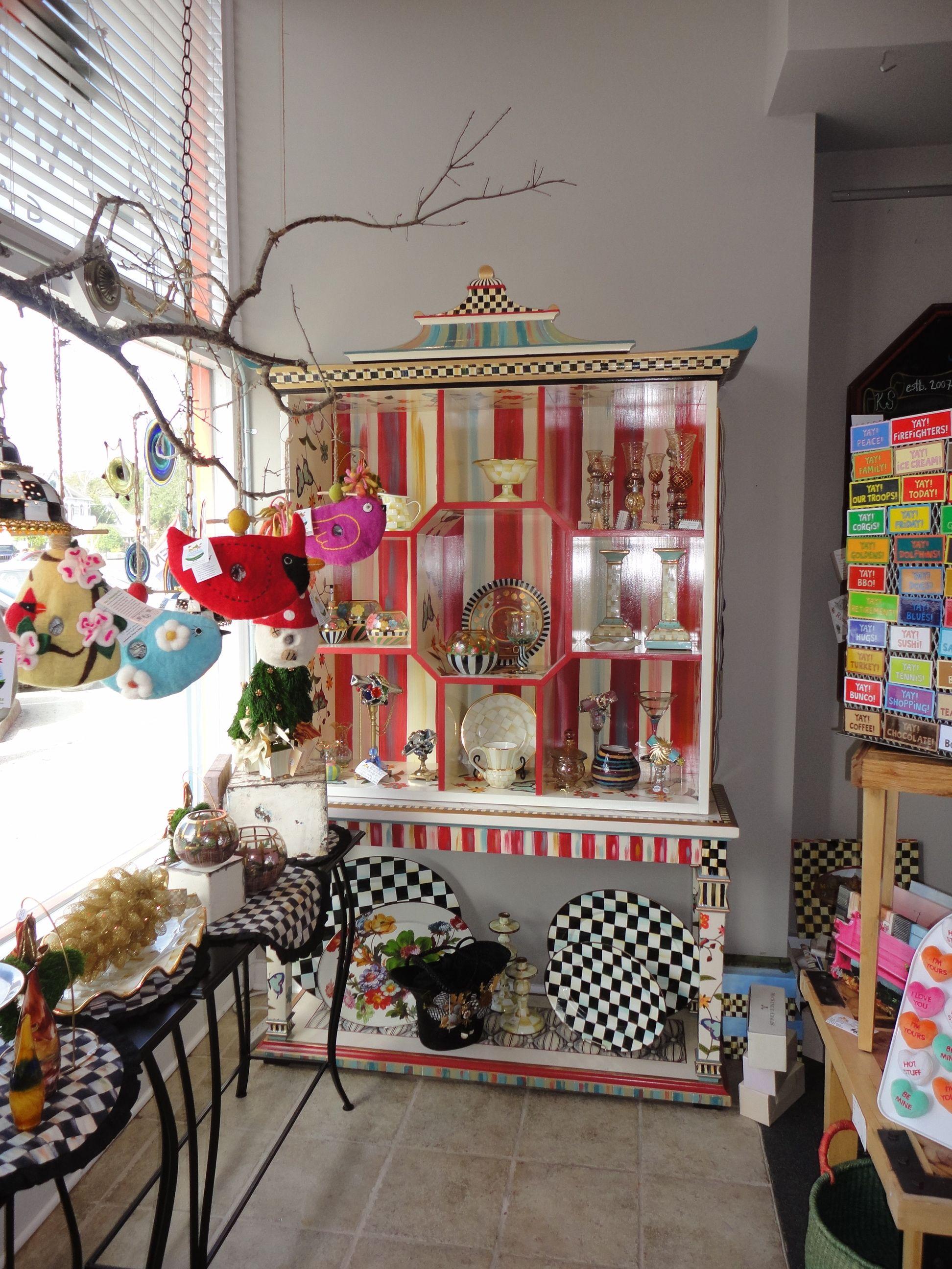 Mckenzie Childs Furniture Images | MacKenzie Childs Pagoda Bookcase