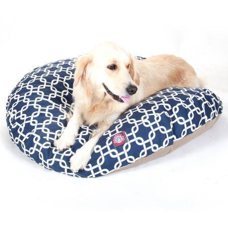 Majestic Pet Products Links Round Pet Bed, Navy Blue