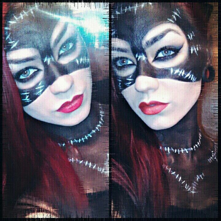 Catwoman makeup that you could do for Halloween that I\'ve done on ...