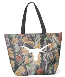 Hook 'Em! New from Desden, our Texas Longhorn Camo tote - features zipper closure and all over camouflage pattern, large Texas Longhorn logo on front. Makes a great gift! $18 www.desden.com #madeinusa