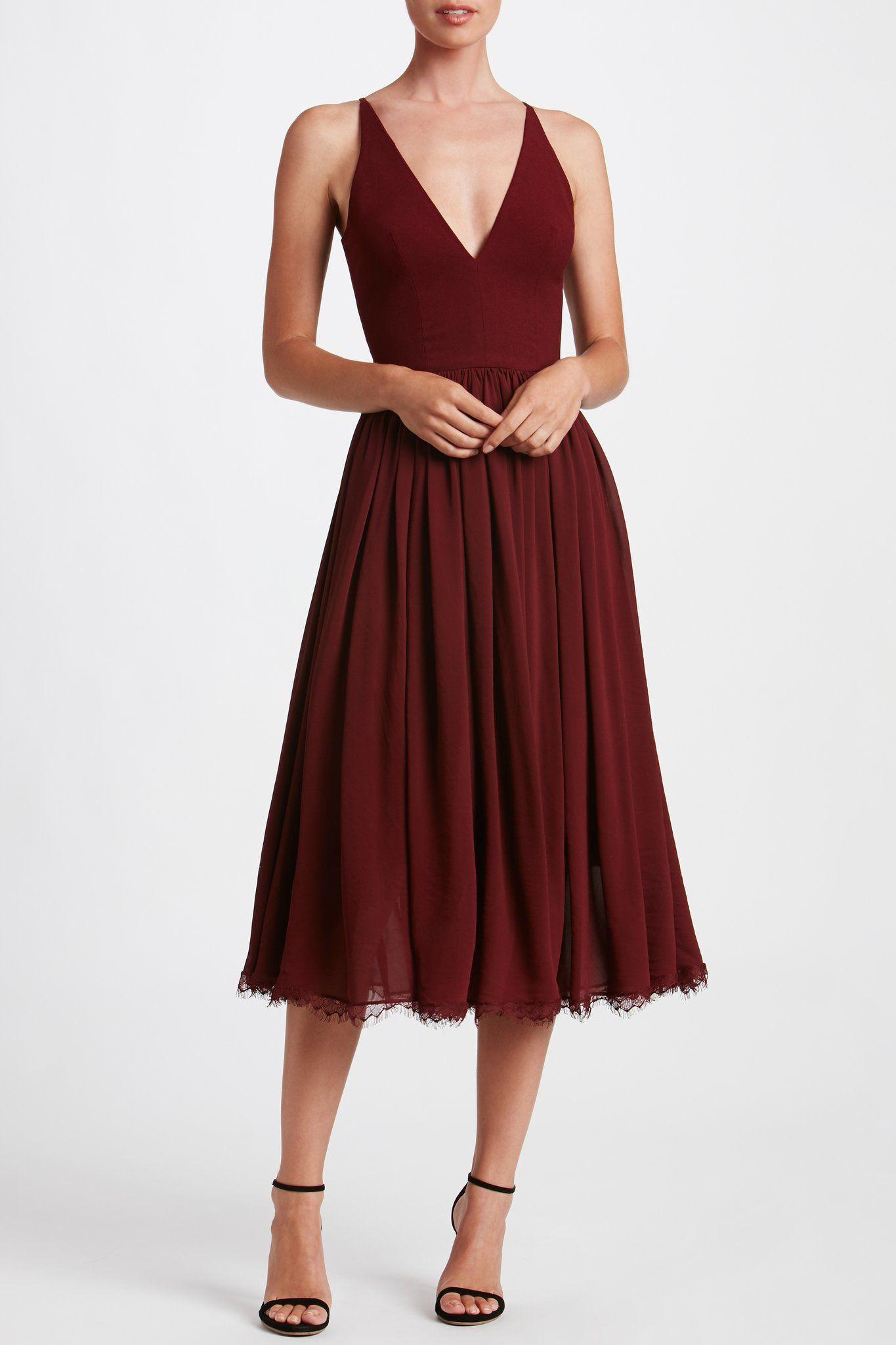 0b17892787b2 Alicia Midi Dress in 2019   Wedding dress   Burgundy midi dress ...
