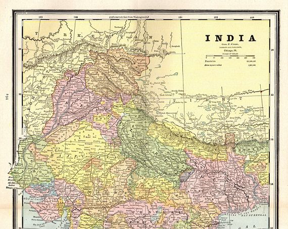 1888 antique india map vintage map of india gallery wall art maps 1888 antique india map vintage map of india gallery wall art maps of the world pinterest india map gumiabroncs Gallery
