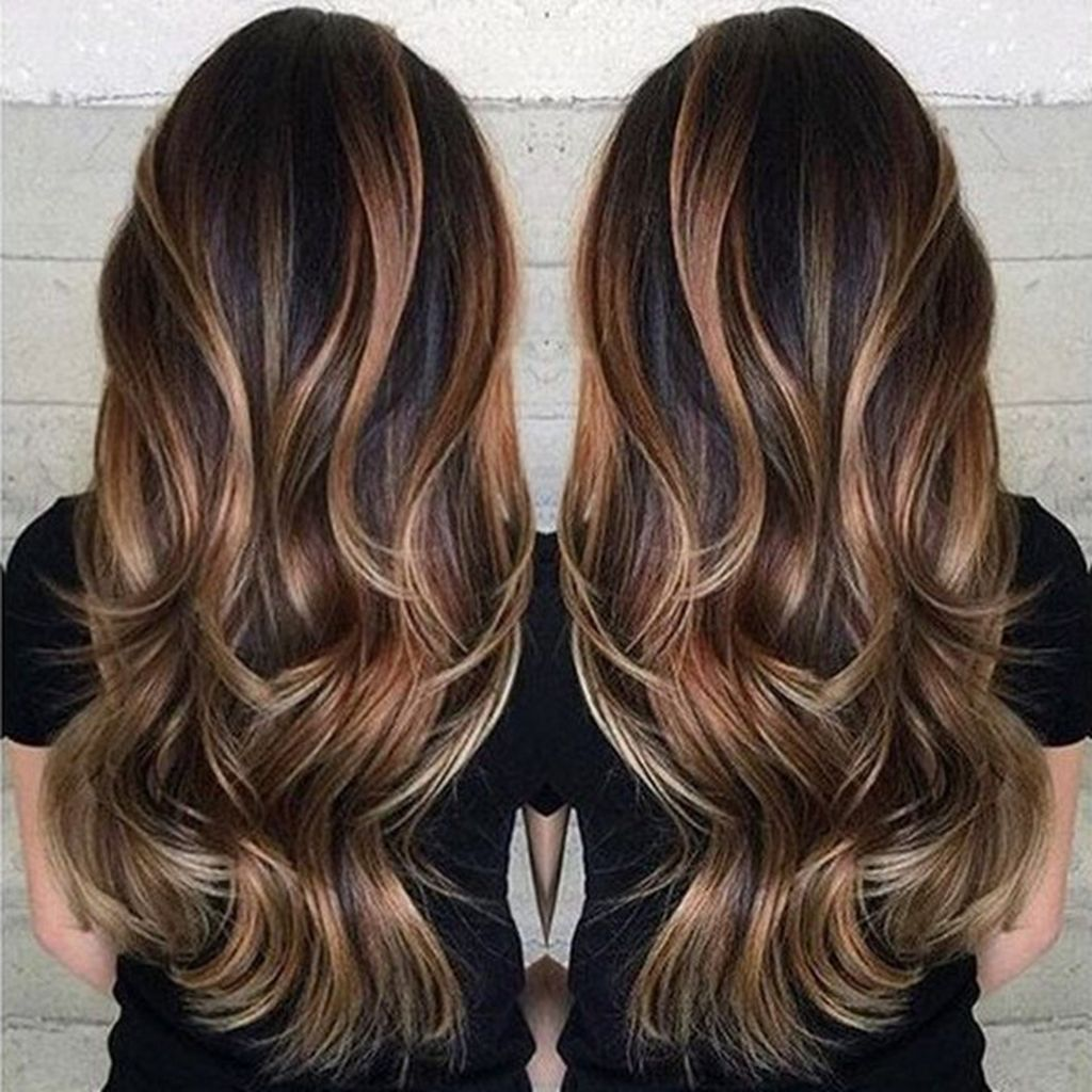 100 caramel highlights ideas for all hair colors - 640×693