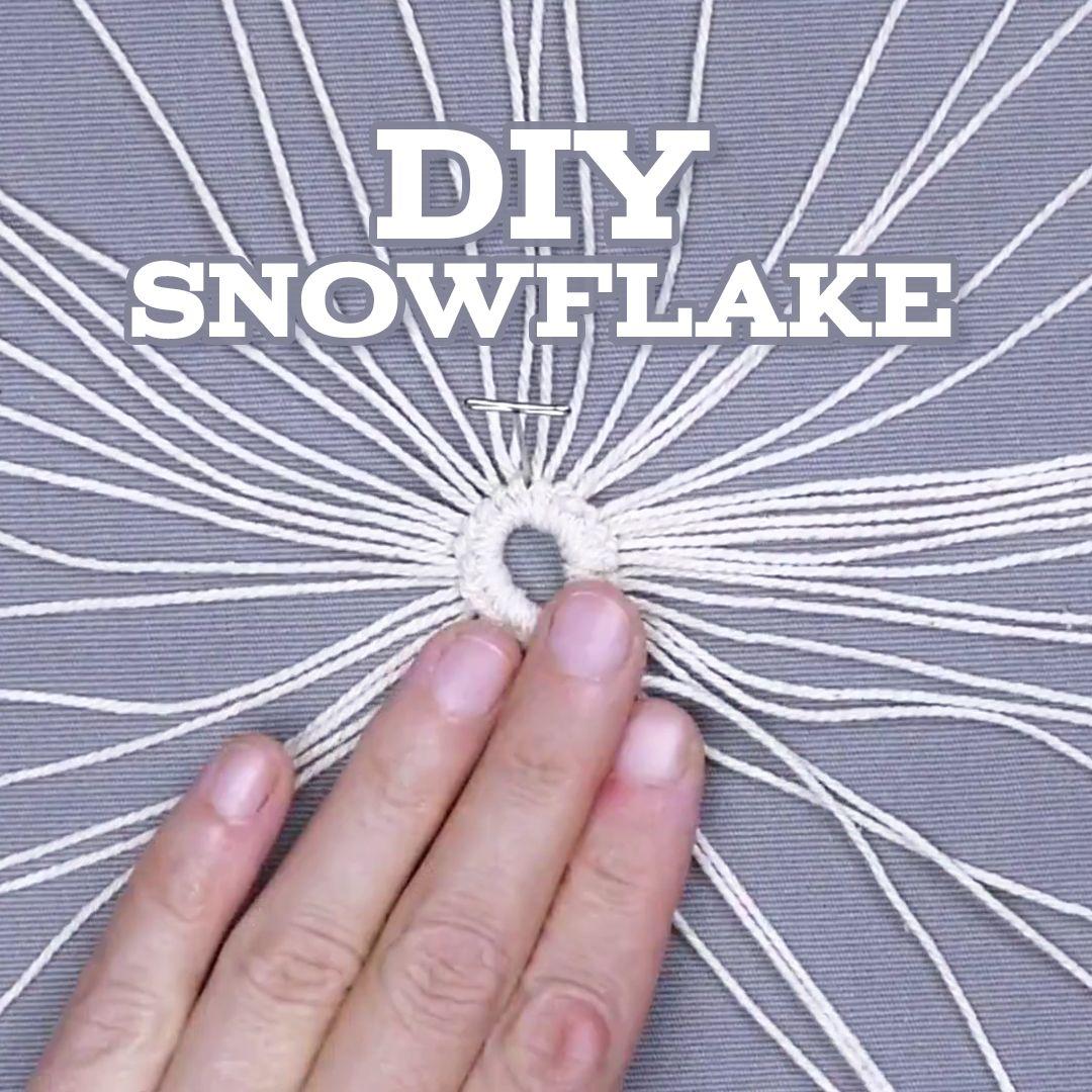 Diy Snowflake Video Snow Flakes Diy Diy Christmas Snowflakes Macrame