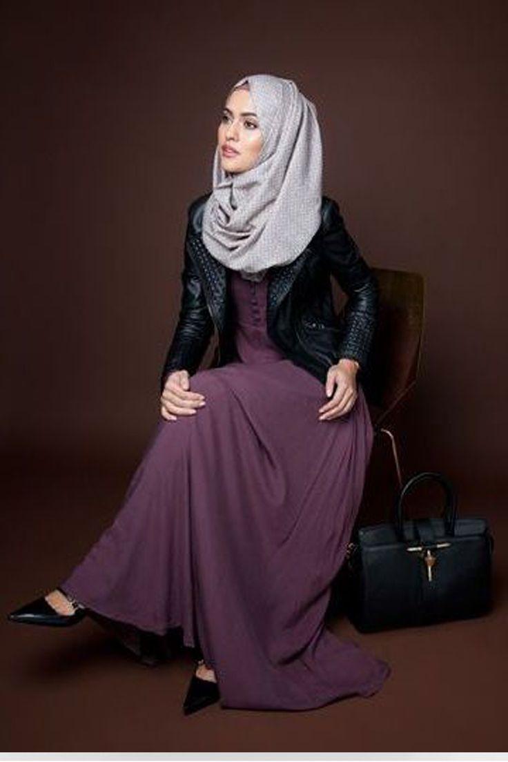 Leather jacket hijab - Dresses