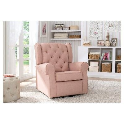 Delta Children Emma Nursery Glider Swivel Rocker Chair – Blush ...