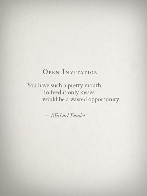 Open Invitation by Michael Faudet Love! Pinterest Poem, Lang - best of definition of invitation to bid