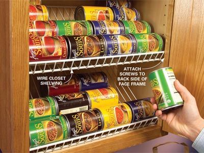 Did you know that you can use wire closet shelving in your kitchen ...