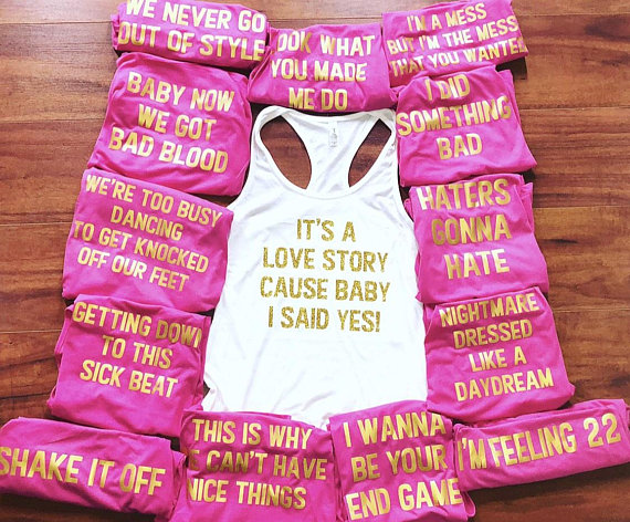 Custom Bachelorette Party Shirts- Song Quotes, Cus
