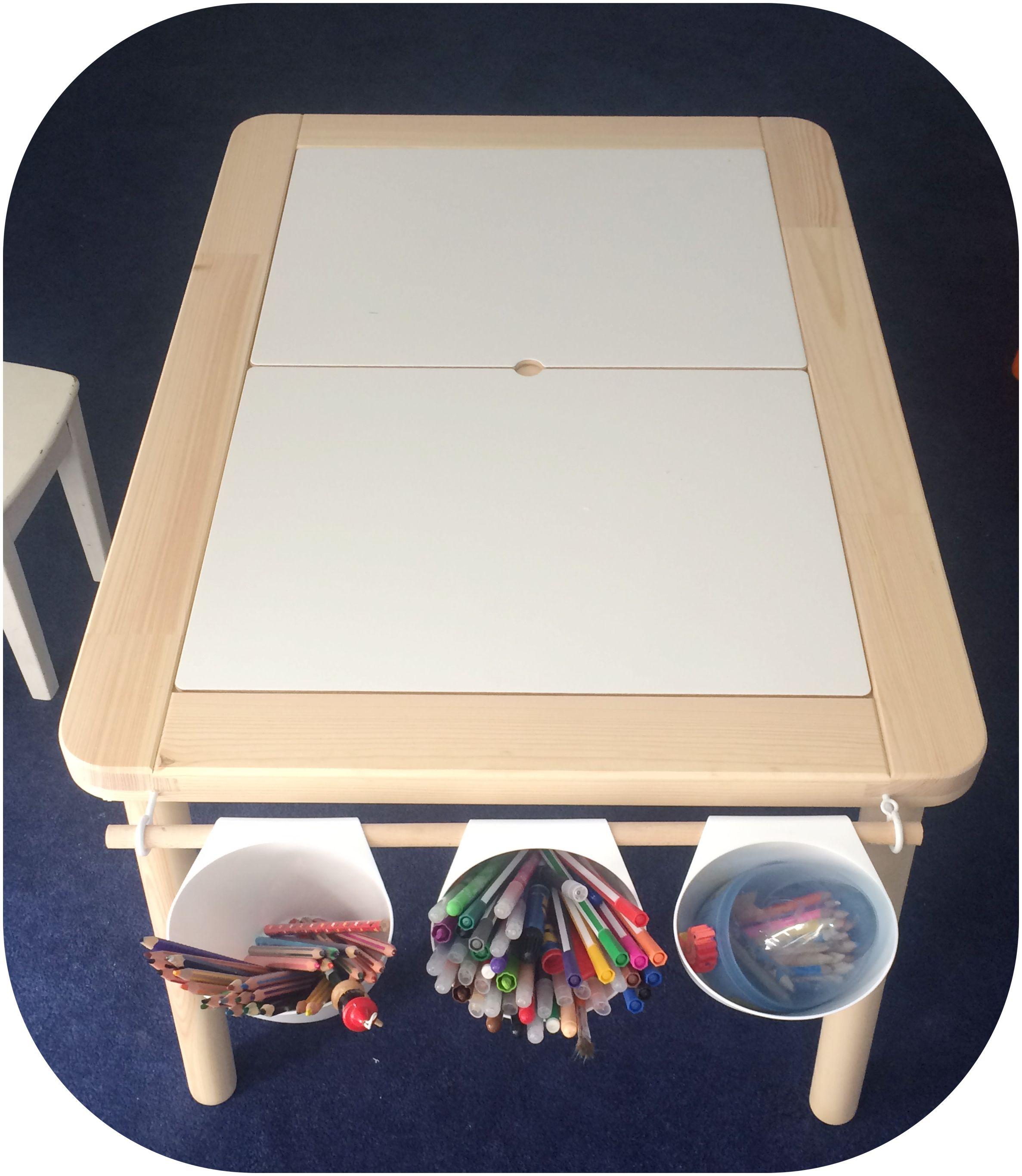 ikea hack avec table d enfant flisat et